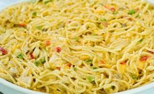 Receta italiana de espaguetis.