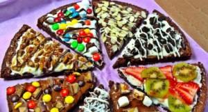 Postres diferentes pizzas dulces