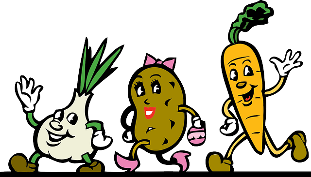 La moda de la Comida creativa para niños